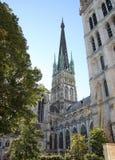 鲁昂大教堂尖顶 法国诺曼底 免版税库存图片