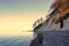鲁根岛海岛白垩海岸  库存照片