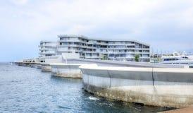 贝鲁特小游艇船坞游艇俱乐部,黎巴嫩 免版税库存图片