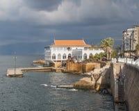 海岸线在贝鲁特黎巴嫩 免版税库存照片