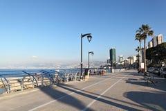 贝鲁特Corniche 免版税库存照片