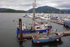 鲁珀特王子的小游艇船坞 免版税图库摄影