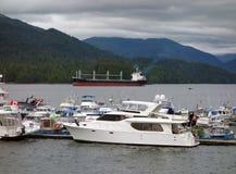鲁珀特,不列颠哥伦比亚省王子的小游艇船坞 免版税库存图片