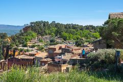 鲁西永村庄在普罗旺斯 图库摄影