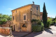 鲁西永村庄在普罗旺斯 免版税库存照片