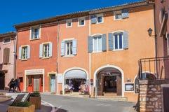 鲁西永村庄在普罗旺斯 免版税库存图片