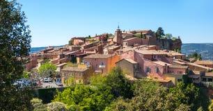 鲁西永村庄在普罗旺斯 免版税图库摄影