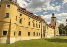 鲁迪-修道院在波兰 免版税库存照片