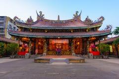 鲍一个寺庙在台北,台湾 免版税库存照片