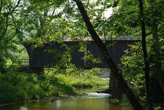 鲍伯白色被遮盖的桥 库存图片