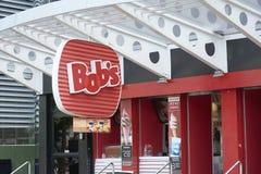 鲍伯` s餐馆商标在圣保罗 库存图片