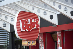 鲍伯` s餐馆商标在圣保罗 免版税图库摄影