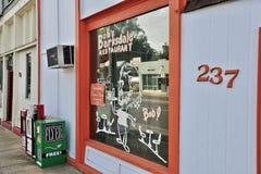 鲍伯` s巴克斯代尔餐馆商店前面 库存图片