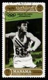 鲍伯Mathias奥林匹克冠军邮票 库存图片