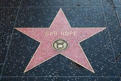 鲍勃・霍普好莱坞明星 免版税库存照片