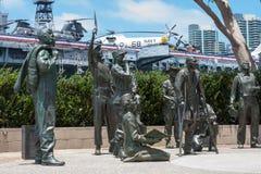 鲍勃・霍普纪念品的部分在圣地亚哥港口的 免版税库存图片