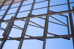 鲍豪斯建筑学派Dessau窗口细节 免版税库存图片