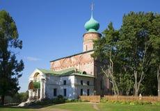 鲍里斯和Gleb大教堂在罗斯托夫修道院的嘴的 雅罗斯拉夫尔市地区,俄罗斯 免版税图库摄影