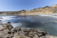 鲍鱼小海湾海岸线公园在南加州 库存图片