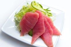 鲔鱼用黄瓜 免版税图库摄影