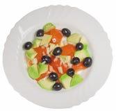 鲕梨沙拉蕃茄 库存图片