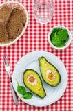 鲕梨烘烤用鸡蛋 图库摄影