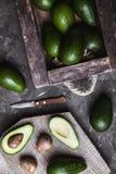 鲕梨 在桌上的有用的食物 乡村模式 免版税图库摄影