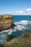 鲜明的分界线,大洋路,南维多利亚,澳大利亚 免版税图库摄影