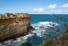 鲜明的分界线,大洋路,南维多利亚,澳大利亚 库存照片