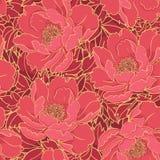 鲜红花卉样式 库存图片