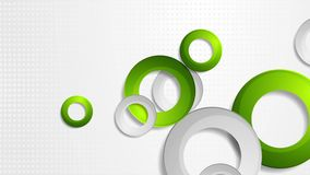 鲜绿色和灰色圆环录影动画