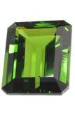 鲜绿色宝石 库存图片