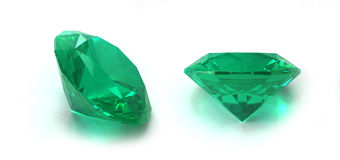 鲜绿色宝石 免版税库存照片