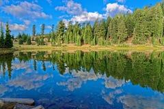 鲜绿色湖,加利福尼亚 免版税库存图片