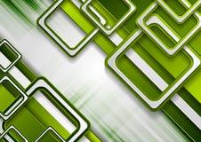 鲜绿色的几何技术背景 免版税库存照片