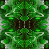 鲜绿色的刺绣抽象传染媒介3d无缝的样式 织地不很细被察觉的波浪背景 装饰重复挂毯 向量例证