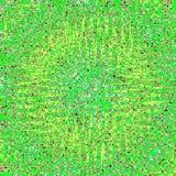 鲜绿色的正方形万花筒卡片 向量例证
