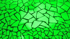 鲜绿色的马赛克石头 免版税库存图片