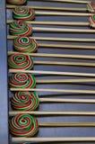 鲜美五颜六色的棒棒糖 库存图片