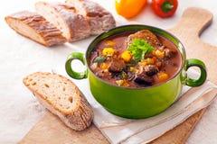 鲜美冬天炖煮的食物 免版税库存照片
