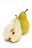 鲜美半一个的梨 免版税库存照片