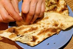 鲜美印地安小面包干 库存照片