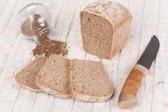 鲜美和健康发面面包 库存照片