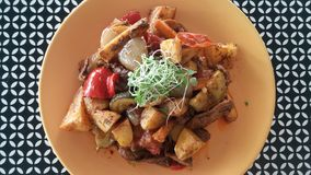 鲜美和健康蔬菜菜肴 库存图片