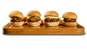 鲜美和开胃汉堡包乳酪汉堡 库存照片