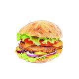 鲜美和开胃汉堡包 免版税库存照片