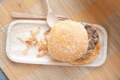 鲜美和开胃汉堡包 库存照片