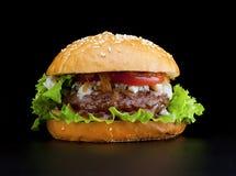 鲜美和开胃汉堡包 免版税图库摄影