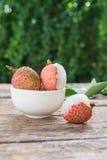 鲜美和新鲜的荔枝果子的分类 图库摄影