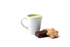 鲜美和美味的奶蛋烘饼和cooky 免版税图库摄影